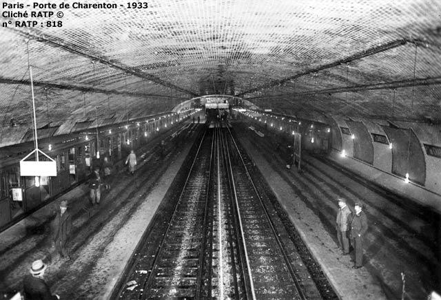 paris - m u00e9tro - porte de charenton - ligne 8 - 1933