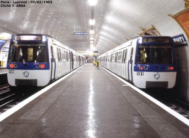 Paris - Métro - Lourmel - Ligne 8 - 07/02/1993