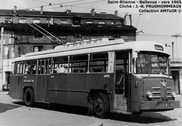 saint etienne bellevue trolleybus elr 1965. Black Bedroom Furniture Sets. Home Design Ideas