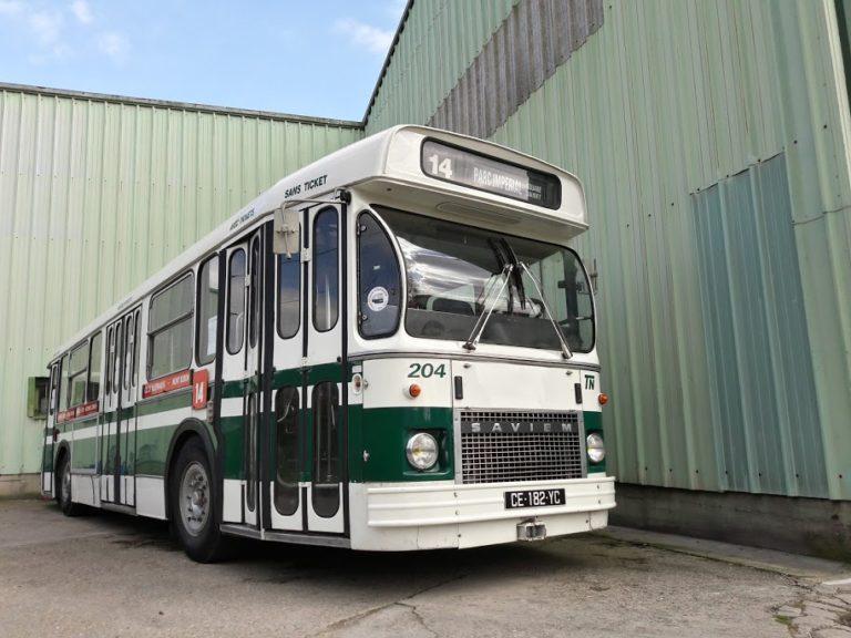 Autobus – Nice – TN – SAVIEM SC10 UPF n°204 – 1979