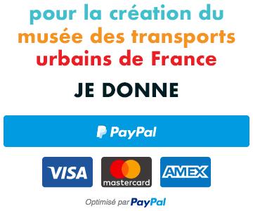 Bouton Paypal « Je donne pour le musée des transports urbains de France »