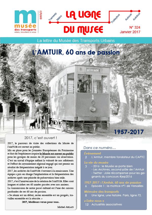 Bulletin de l'Amtuir «La ligne du Musée» no324 pour les 60 ans de l'association